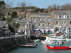 Padstow harbour with Ellerys Cottage in the background